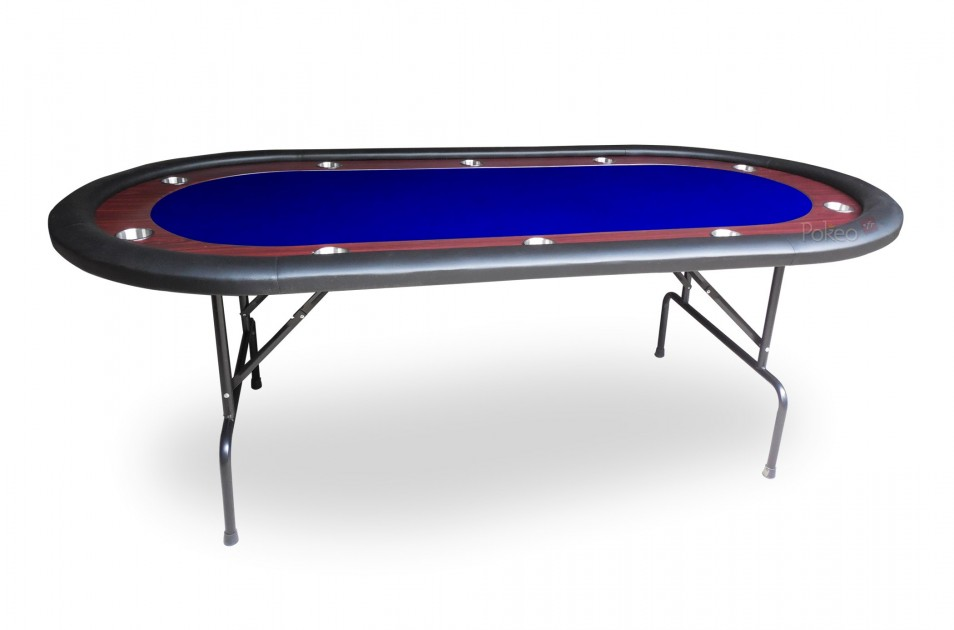 table de poker racetrack bleu 10 joueurs. Black Bedroom Furniture Sets. Home Design Ideas