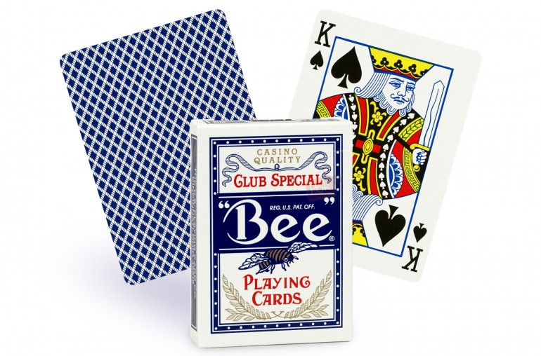 Cartes Bee Poker Regular (bleu)
