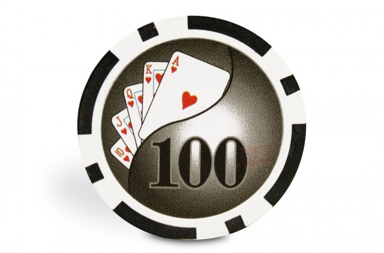 Rouleau de 25 jetons Royal Flush 100