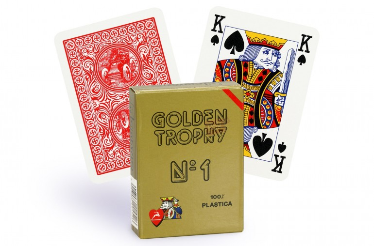 Cartes Golden Trophy 4 index (rouge)