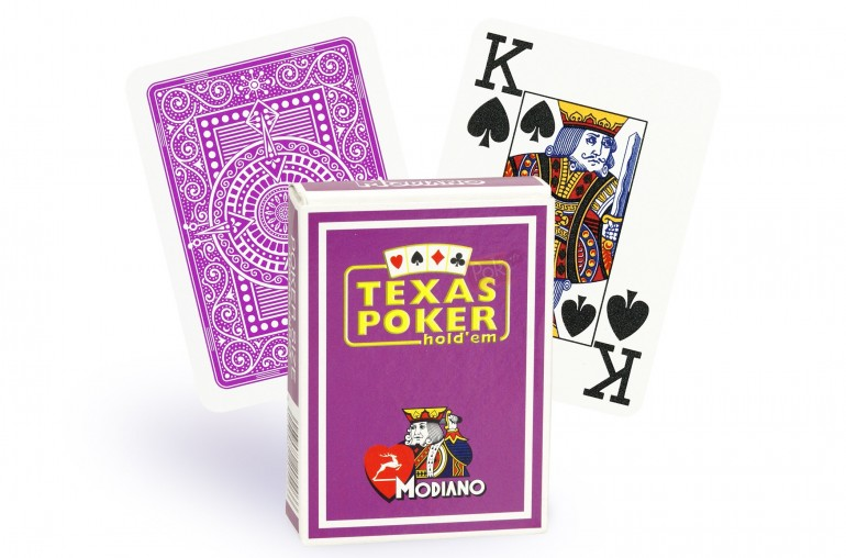 Cartes Modiano Texas Poker (mauve)