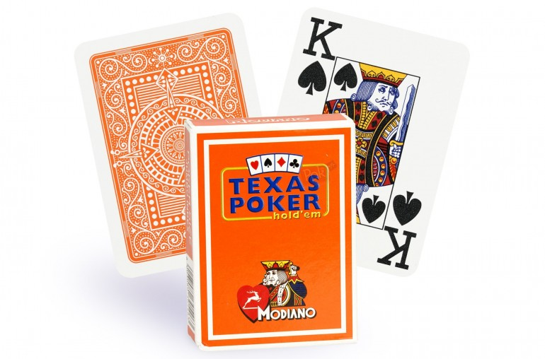 Cartes Modiano Texas Poker (orange)