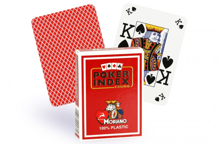 Cartes Modiano Poker Index (rouge)