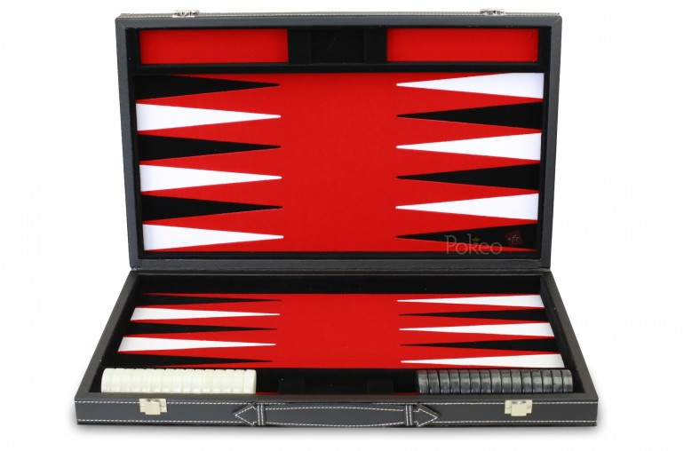 Backgammon Feutrine Rouge 47cm