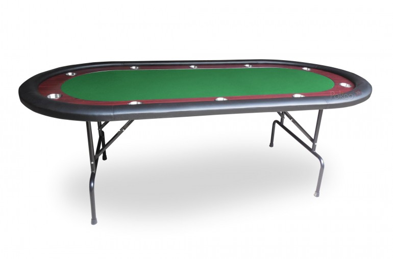 Table de poker racetrack (vert)