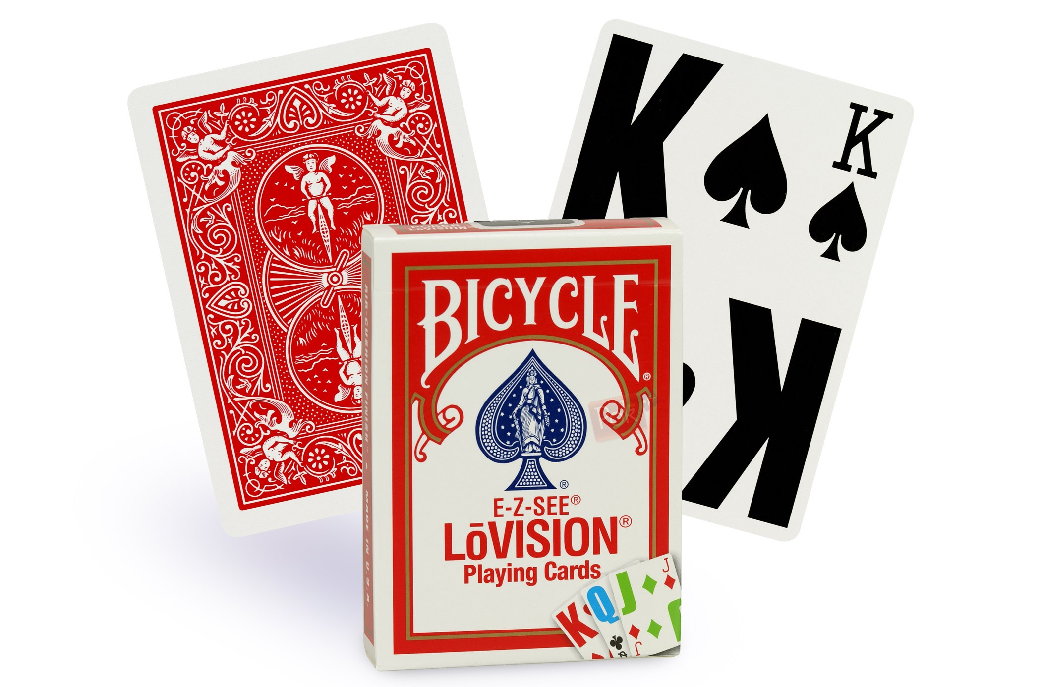 Cartes de poker Low Vision