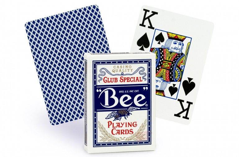 Cartes Bee Poker Jumbo (bleu)