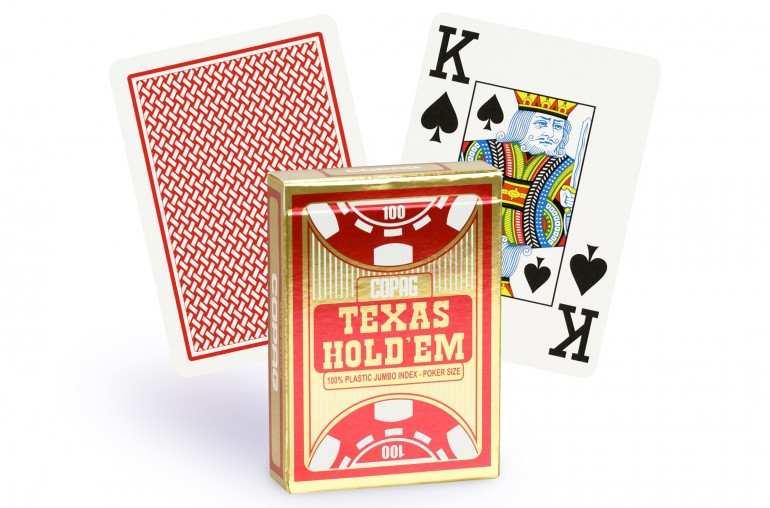 Cartes Copag Texas Hold'em Gold (rouge)