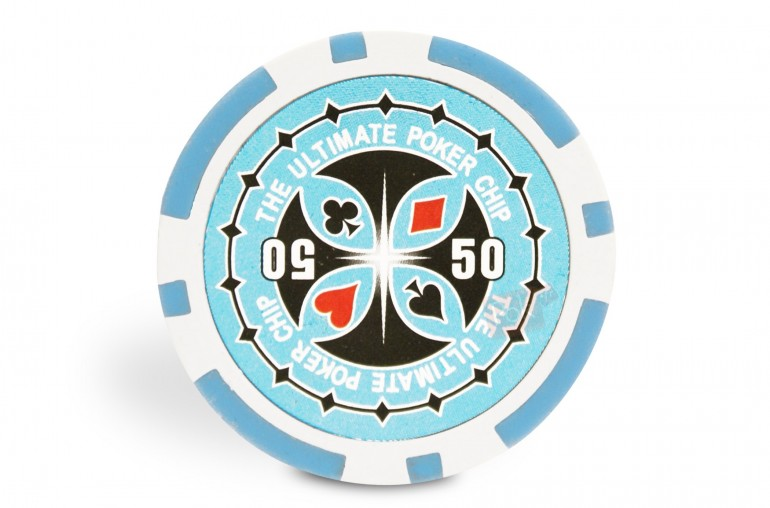 Rouleau de 25 jetons Ultimate Poker Chips 50
