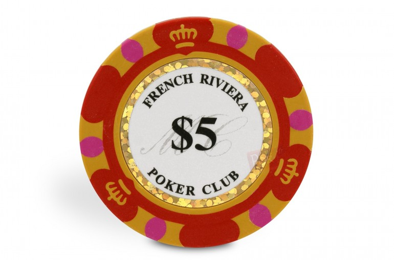 Rouleau de 25 jetons French Riviera Gold $5