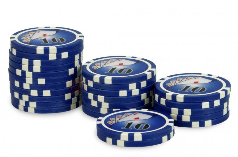 Rouleau de 25 jetons Royal Flush 10