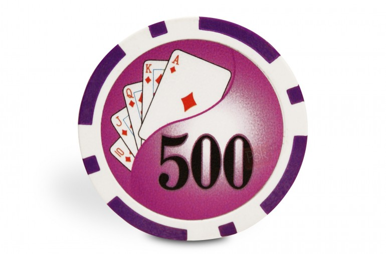 Rouleau de 25 jetons Royal Flush 500