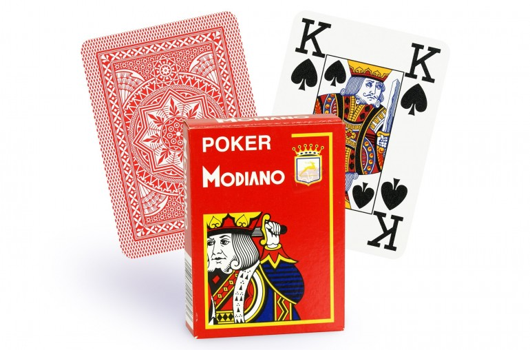Cartes Modiano 4 index (rouge)