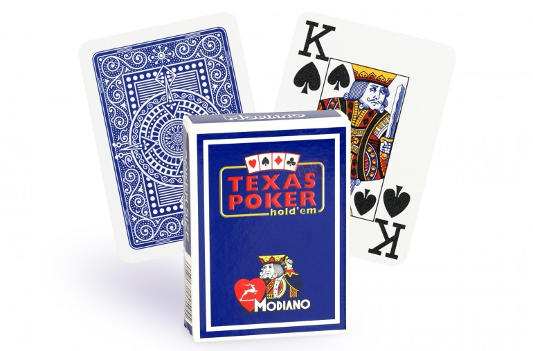 Cartes Modiano Texas Poker (bleu)