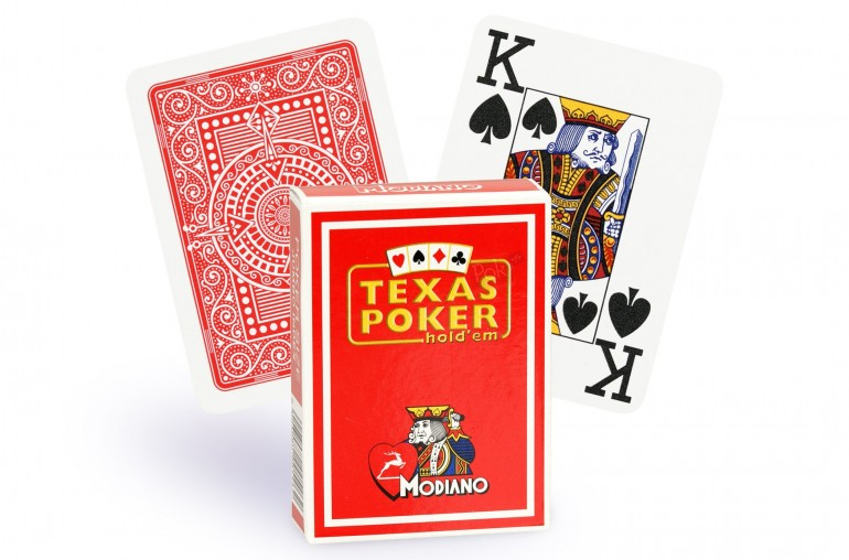 Cartes Modiano Texas Poker (rouge)