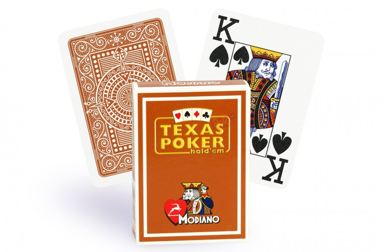 Cartes Modiano Texas Poker (marron)