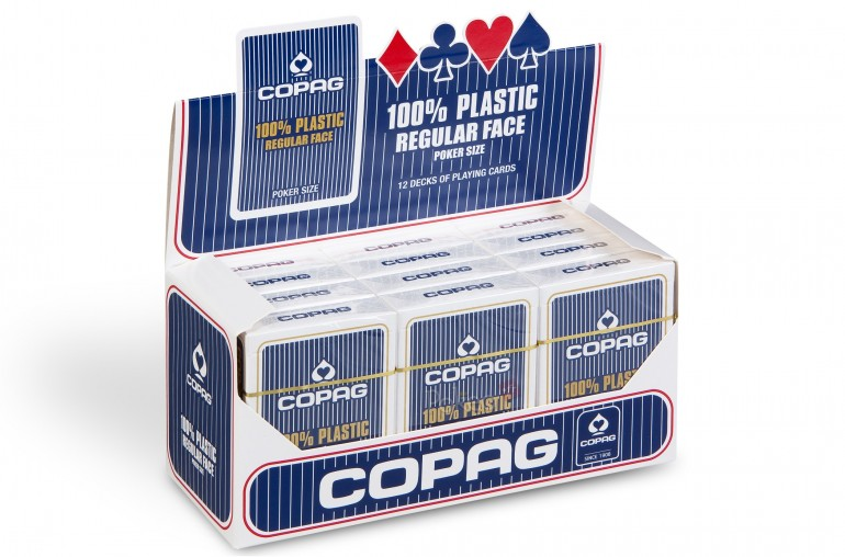 Pack de cartes Copag Poker Regular (bleu) x12