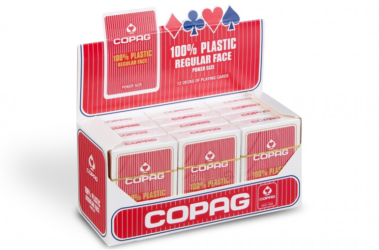 Pack de cartes Copag Poker Regular (rouge) x12