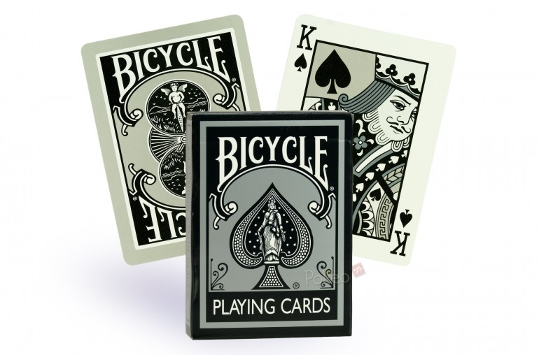 Cartes Bicycle Fashion Rider Back (Silver)