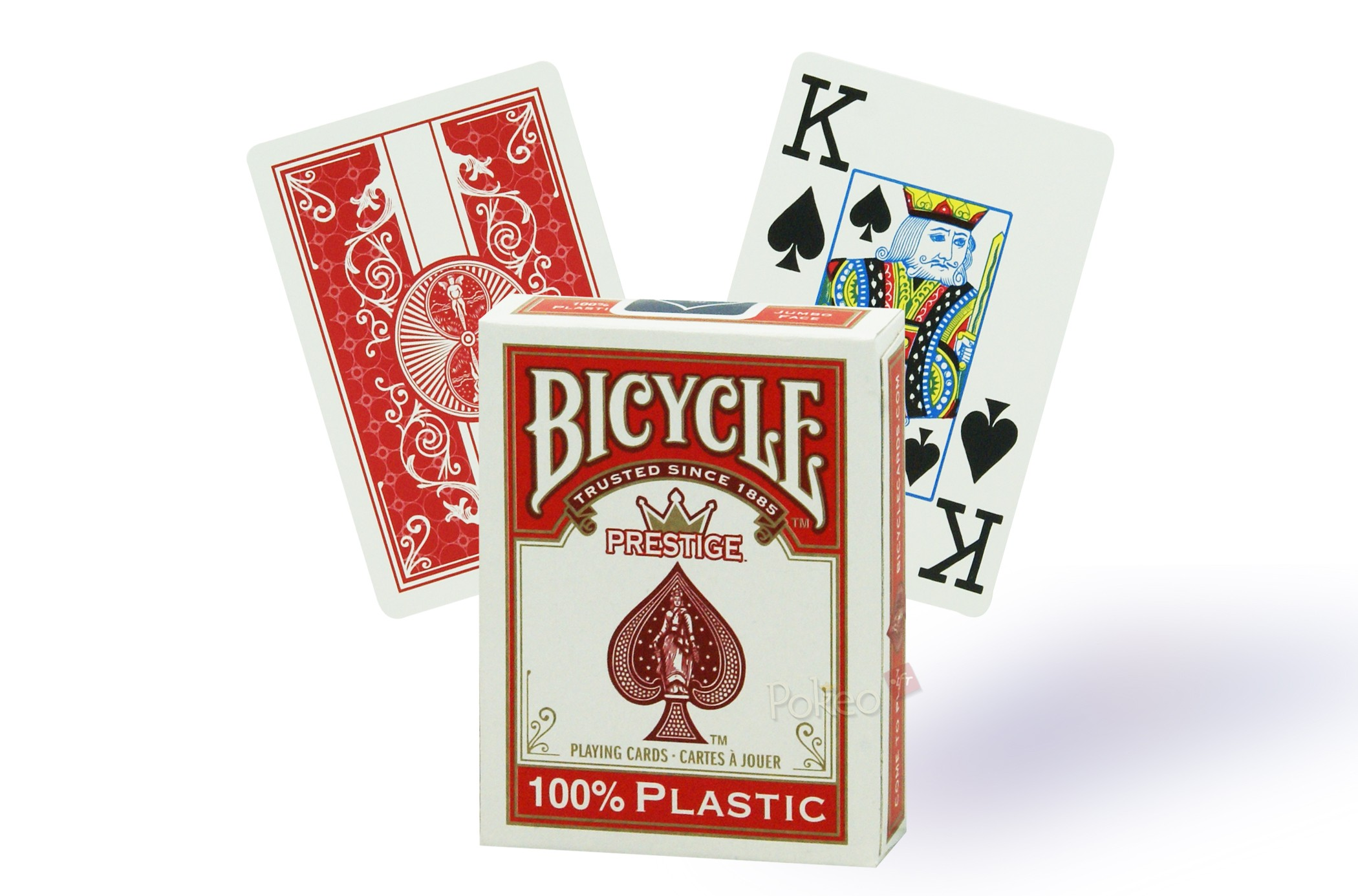 Cartes de poker 100% plastique