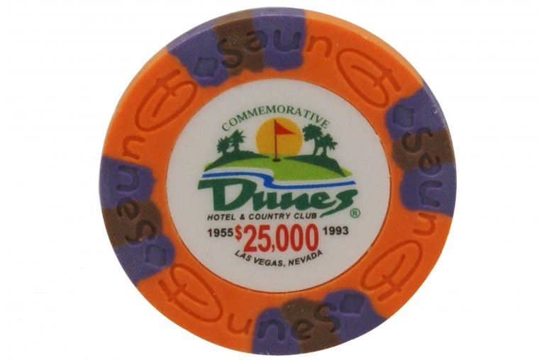 Jeton DUNES Commemorative 25000$ orange